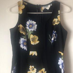 Cute Black floral maxi dress